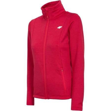Bluza damka 4F H4L19 PLD002 62M czerwony melanż