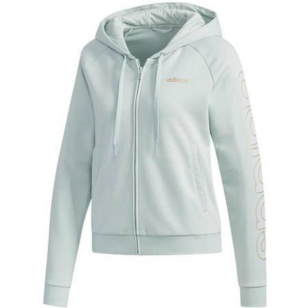 Bluza damska adidas Essentials Hooded Tracktop niebieska FL9297