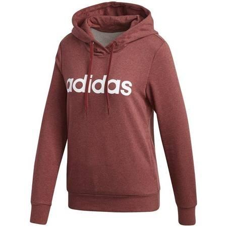 Bluza damska adidas  Essentials Linear OH HD bordowa GD2960