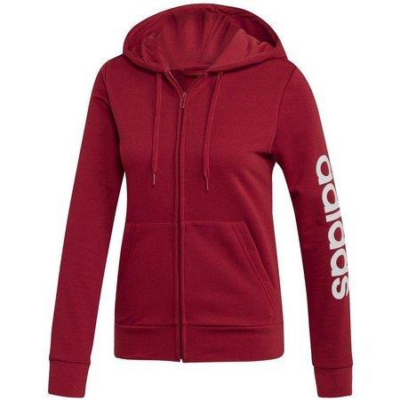 Bluza damska adidas W Essentials Linear FZ HD czerwona EI0661
