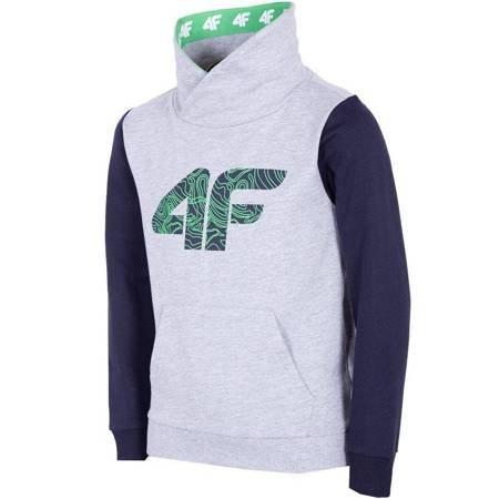 Bluza dla chłopca 4F J4L19 JBLM200 25M szary melanż