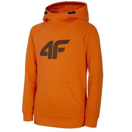 Bluza dla chłopca 4F pomarańczowa HJL21 JBLM002B 70S