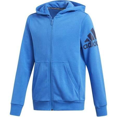 Bluza dla chłopca adidas BOS FZ Junior niebieska DV0807