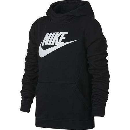 Bluza dla dzieci Nike B NSW PO Hoodie Club FLC HBR czarna BV0783 010