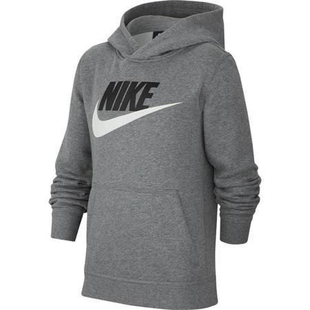 Bluza dla dzieci Nike Club + Hbr Po szara CJ7861 091