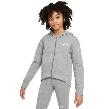 Bluza dla dzieci Nike G NSW Club FLC FZ Hoodie LBR szara DC7118 091