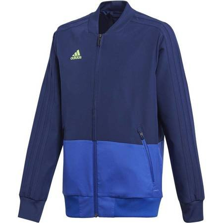 Bluza dla dzieci adidas Condivo 18 Presentation Jacket JUNIOR granatowo-niebieska CF3707