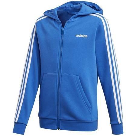 Bluza dla dzieci adidas Essentials 3 Stripes Full Zip niebieska FL9603