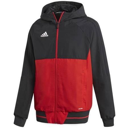 Bluza dla dzieci adidas Tiro 17 Presentation Jacket JUNIOR czarno-czerwona BQ2782