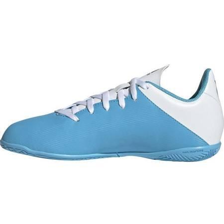 Buty piłkarskie adidas X 19.4 IN JUNIOR niebiesko białe F35352