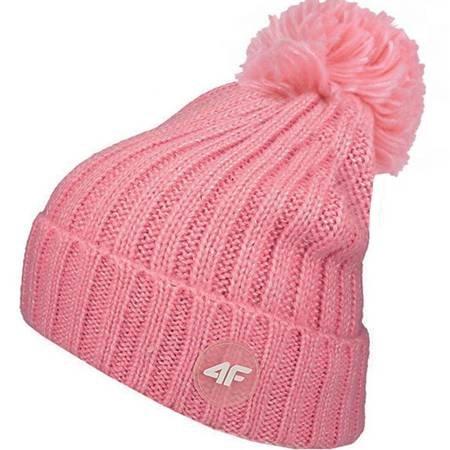 Czapka dla dziewczynki 4F różowa HJZ19 JCAD008 54S