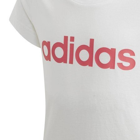 Koszulka dla dzieci adidas Essentials Linear Tee JUNIOR biała FH6614