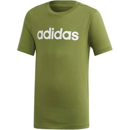 Koszulka dla dzieci adidas YB Essentials Linear Tee zielona EI7991