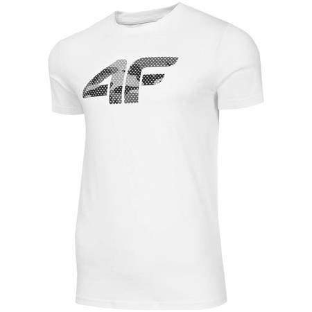 Koszulka męska 4F biała H4Z19 TSM077 10S