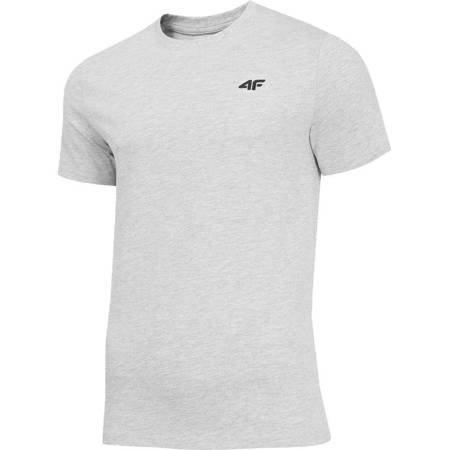 Koszulka męska 4F chłodny jasny szary melanż H4Z19 TSM070 27M
