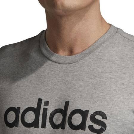 Koszulka męska adidas M Graphic Linear Tee 3 szara EI4580