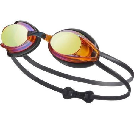Okulary pływackie Nike Os Remora JR czarno pomarańczowe NESS6156-001