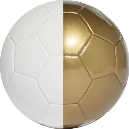 Piłka nożna adidas Real Madrid Mini biało złota DY2529