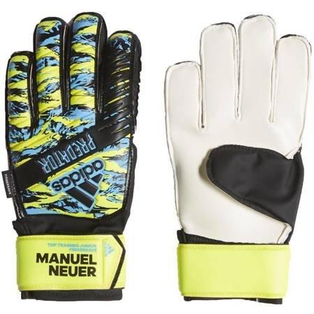 Rękawice bramkarskie adidas Predator JUNIOR czarno żółto niebieskie DY2625